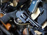 Guns removed from circulation by the Metropolitan Police